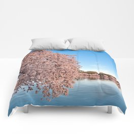 Washington DC Cherry Blossoms Comforters