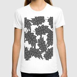 Denim leaves 2+black.white T-shirt