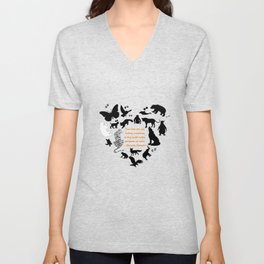 Love of the Animals Typography Unisex V-Neck