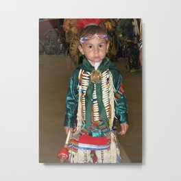 Native American Child Dancer, Red Earth Festival Metal Print