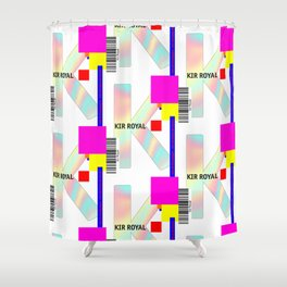 "Cocktail ""K"" - Kir Royal Shower Curtain"