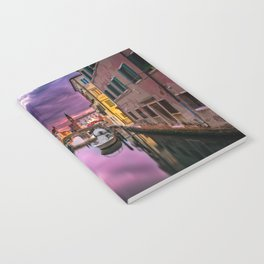 Venice Italy Canal at Sunset Photograph Notebook