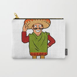 Cartoon happy Mexican Carry-All Pouch
