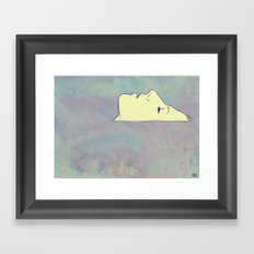 face up to the sky Framed Art Print