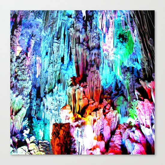 Cavern in Greece Canvas Print