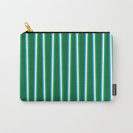 Between the Trees Forest Green, Green & Blue #811 Carry-All Pouch
