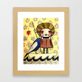 Fishing for You Framed Art Print