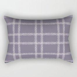 Lilac Indigo Lace Rectangular Pillow
