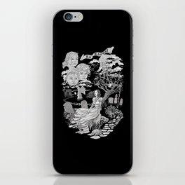 Hispanic Legend La Llorona (black and white) iPhone Skin