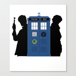 The Doctor and Sherlock meets Supernatural Canvas Print