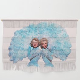 Sisters - White Christmas - Watercolor Wall Hanging