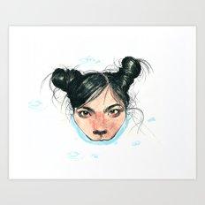 Bjørk in Milk Art Print