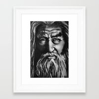 gandalf Framed Art Prints featuring Gandalf by spiderdave7