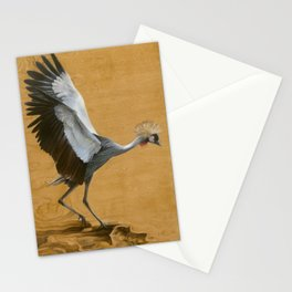 Grey Crowned Crane Stationery Cards