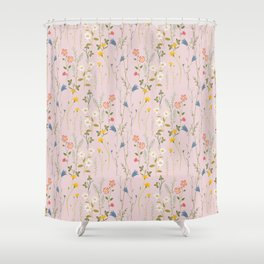 Dreamy Floral Pattern Shower Curtain