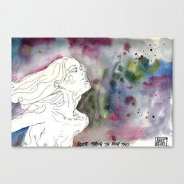 Breathe Through the Rough Times Canvas Print