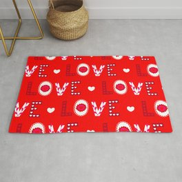 Valentine's Day Love and Joy Rug