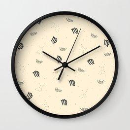 Virgo Pattern - Beige Wall Clock