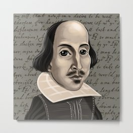 Shakespeare in monochrome Metal Print