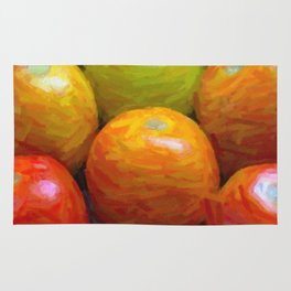 Paint of colorful tomatoes Rug