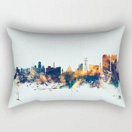 Calcutta Kolkata India Skyline Rectangular Pillow