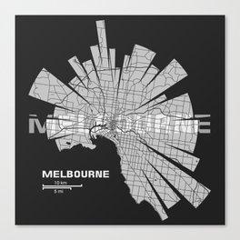 Melbourne Map Canvas Print