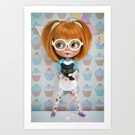 Erregiro Blythe Custom Doll Carmencita & Sócrates Art Print