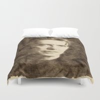 bowie Duvet Covers featuring Bowie by Little Bunny Sunshine