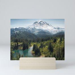 Mountain, Scenic, Rainier, Eunice Lake, National Park, Parks 2016 Mini Art Print