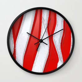 No Stars and All Stripes Wall Clock