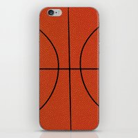 basketball iPhone & iPod Skins featuring Basketball by An Luong