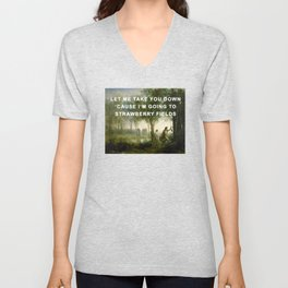 Orpheus Leading Eurydice to Strawberry Fields Unisex V-Neck