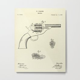 Revolver-1863 Metal Print
