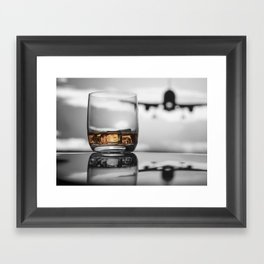 Airport on Ice Framed Art Print
