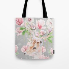 Deer Head & Magnolia's  Tote Bag
