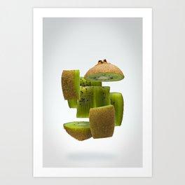 Flying Kiwifruit Art Print