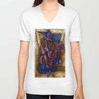 chevron V-neck T-shirts featuring Chevron  by John Hansen