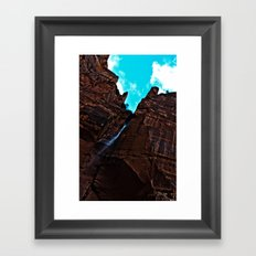 Zion Emerald Falls Framed Art Print