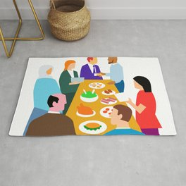Diversity in Workplace Retro Rug