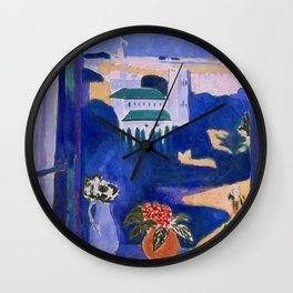 LANDSCAPE VIEWED FROM A WINDOW IN TANGIER - HENRI MATISSE Wall Clock