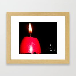 the light laying within me Framed Art Print