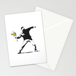 Love Is In The Air (Flower Thrower) - Banksy Graffiti Stationery Cards