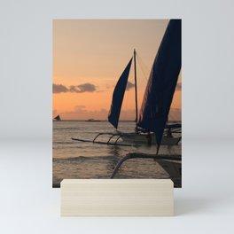 Sunset Sails Mini Art Print