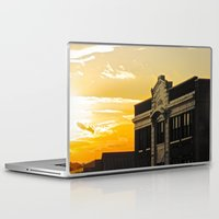 theatre Laptop & iPad Skins featuring Palace Theatre Sunset by Biff Rendar