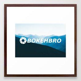 BokehBro Mountains Framed Art Print