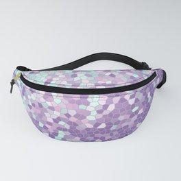 Aqua and Violet Purple Mosaic Fanny Pack