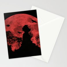 Red moon rock Stationery Cards