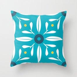 Valencia retro tile pattern design_03 Throw Pillow