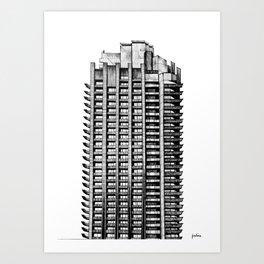 Barbican - Brutalist building illustration Art Print