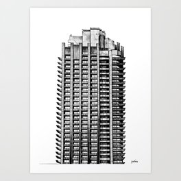 Barbican - Brutalist building illustration Art Print